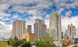 Downtown San Francisco. San Francisco downtown under cloudy cky Royalty Free Stock Photo