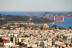 Downtown San Francisco. Golden Gate Bridge and Downtown San Francisco, US Royalty Free Stock Photo
