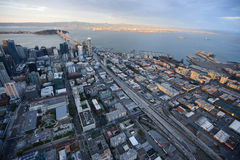 downtown san francisco aerial view Royalty Free Stock Image
