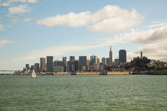 Downtown of San Francisco as seen from the bay Stock Photography