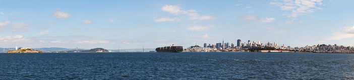Downtown of San Francisco as seen from the bay Royalty Free Stock Photo