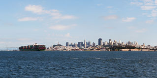Downtown of San Francisco as seen from the bay Royalty Free Stock Photography