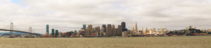 Downtown of San Francisco as seen from the bay Stock Photos