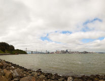 Downtown of San Francisco as seen from the bay Stock Photo
