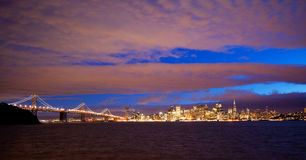 Downtown of San Francisco as seen from seaside Stock Photos