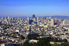 Downtown San Francisco from Buena Vista Park, California. The higher elevations of Buena Vista Park offer sweeping views over downtown San Francisco, including Royalty Free Stock Photo