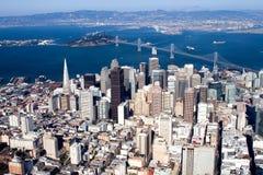 Downtown San Francisco, California. Aerial view of downtown San Francisco, California Royalty Free Stock Photos