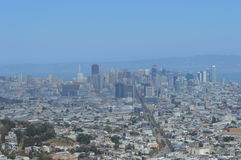Downtown San Francisco California. From Twin Peaks Royalty Free Stock Images