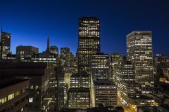Downtown San Francisco at Dawn. Editorial view of downtown San Francisco at dawn Royalty Free Stock Images