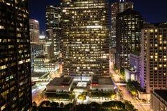 Downtown San Francisco. Night cityscape Royalty Free Stock Photo
