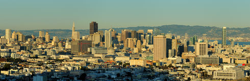 Downtown San Francisco panoramic Royalty Free Stock Photos