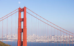Downtown San Francisco. A rare sight, no fog in San Francisco Royalty Free Stock Photography