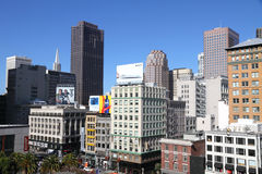 Downtown San Francisco skyscrapers Stock Photos