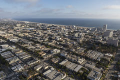 Downtown Santa Monica California Aerial Stock Photography