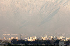 Downtown of Santiago from the airport Royalty Free Stock Image