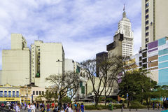 The downtown of Sao Paulo city in Brazil Royalty Free Stock Photo