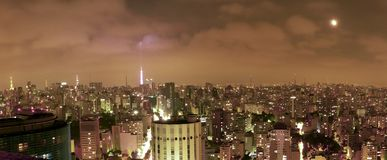 Downtown sao paulo`s buildings scapeview royalty free stock photography