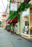 Art Galleries in Saugerties. Downtown Saugerties, with boutiques and art galleries, is often conserved one of America`s hippest small towns Royalty Free Stock Photo