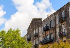 Downtown Savannah GA Historic Buildings stock images