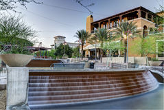 Downtown Scottsdale Arizona in the Waterfront District. Royalty Free Stock Photography