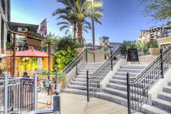 Downtown Scottsdale Arizona in the Waterfront District Public Patio and Stairs. Royalty Free Stock Photo