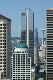 Downtown Seattle. With the Space Needle in the background Stock Photo