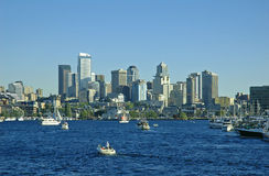 Downtown Seattle. From Lake Union Royalty Free Stock Image