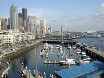 Downtown Seattle. A view of downtown Seattle and marina area Royalty Free Stock Images