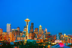 Downtown Seattle as seen from the Kerry park Stock Image