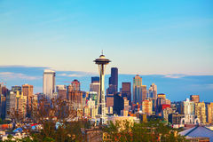 Downtown Seattle as seen from the Kerry park Stock Photography