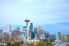 Downtown Seattle as seen from the Kerry park Stock Photos