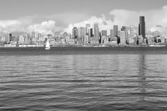 Downtown Seattle In B&W Stock Photos