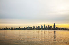 Downtown Seattle cityscape in the morning Stock Photography