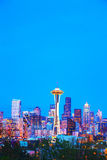 Downtown Seattle cityscape with Space Needle Royalty Free Stock Photo