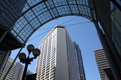 Downtown Seattle, Convention Center Arch Royalty Free Stock Images