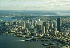 Downtown Seattle From Above Stock Photos