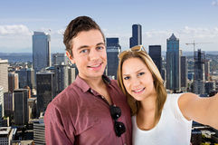 Downtown Seattle Selfie Stock Images