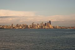 Dowtown Seattle skyline Stock Photography