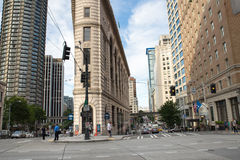 Downtown Seattle 4th Avenue and Stewart Street Royalty Free Stock Photo