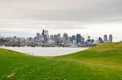 Downtown Seattle. Views of Seattle from Gas Works park Stock Photos