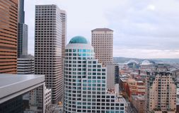 Downtown Seattle from the Wamu Tower Stock Image
