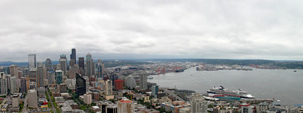 Downtown Seattle Washington Panorama Stock Photos
