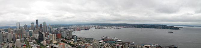 Downtown Seattle Washington Panorama Stock Images