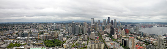 Downtown Seattle Washington Panorama Royalty Free Stock Photos