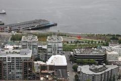 Downtown Seattle Washington Park Royalty Free Stock Photo