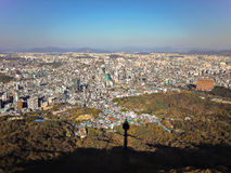 Downtown of Seoul. From Namsan Seoul Tower Royalty Free Stock Photography