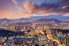 Downtown Seoul Royalty Free Stock Photo