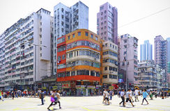 Downtown sham shui po, hong kong Royalty Free Stock Photo