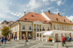 Downtown Sibiu Stock Photo