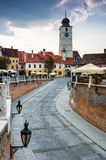 Downtown of Sibiu, Transylvania Royalty Free Stock Photo